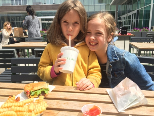 We spent the morning at the crowded zoo, and then headed to the Shake Shack for delicious cheeseburgers and shakes.