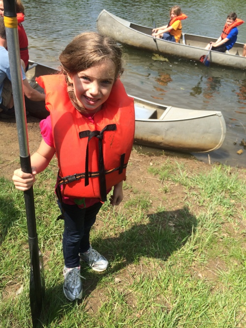 Adeline and her buddies tipped their canoe and went for a swim!